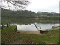 SJ9460 : Pontoon and slipway, Sea Scouts base, Rudyard Lake by Stephen Craven
