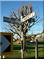TM4897 : Signpost on The Street by Adrian Cable