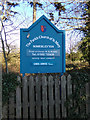 TM4997 : St. Mary's Church sign by Geographer