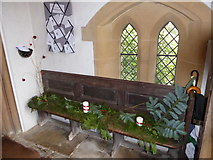 TQ0165 : Holy Trinity, Lyne: porch by Basher Eyre