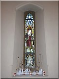 TQ0165 : Holy Trinity, Lyne: stained glas window (c) by Basher Eyre