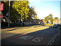 SO8884 : Bus stop and layby, Wollaston Junction by Richard Vince