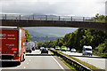 SH5769 : Bridge over the North Wales Expressway near to Glasinfryn by David Dixon