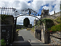 SX1867 : Church of St Neot - east gates by Stephen Craven