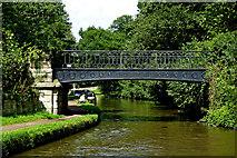 SJ9922 : Canal footbridge near Great Haywood in Staffordshire by Roger  Kidd