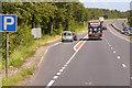 SH6674 : Layby on the A55 near Glan-y-môr Elias by David Dixon