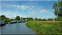 SJ9922 : Trent and Mersey Canal approaching Great Haywood Junction, Staffordshire by Roger  Kidd