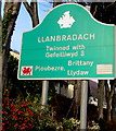 ST1489 : Llanbradach boundary sign detail by Jaggery