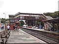 SX0152 : St Austell station - old footbridge by Stephen Craven