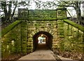 SK1285 : Tunnel at Edale railway station by Graham Hogg
