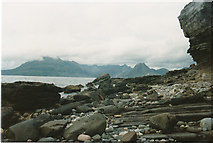 NG5113 : Stony beach at Elgol by Malcolm Neal