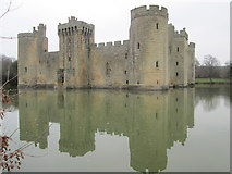 TQ7825 : Bodiam Castle – a view from the south bank by Peter S