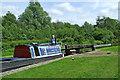 SJ9312 : Working boat in Otherton Lock near Penkridge by Roger  Kidd
