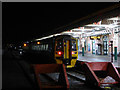 SN5881 : The 07:30 train at Aberystwyth by John Lucas