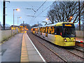 SD8104 : Tram at Prestwich Station by David Dixon