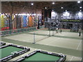 NY5726 : Sports Plaza at Center Parcs, Whinfell by M J Richardson