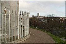 TR1457 : View from Dane John Mound to the Cathedral by Mark Anderson