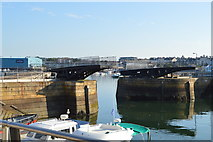 SX4653 : Royal William Yard - swing bridge by N Chadwick