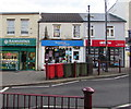 ST1586 : Tenovus charity shop, Cardiff Road, Caerphilly by Jaggery