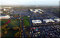 O1742 : Dublin Airport car rental area from the air by Thomas Nugent