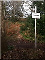 SZ0791 : Bournemouth: warning sign on the edge of Meyrick Park by Chris Downer
