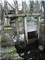 SH4861 : Remains of wooden sluice gate, Caernarfon by Meirion