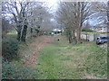SJ1257 : Former railway cutting, behind Maes-y-Dre by Eirian Evans