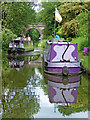 SJ8414 : Narrowboats north-east of Marston in Staffordshire by Roger  Kidd