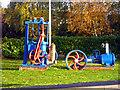 SP3099 : Old pumps at Alder Mill by Chris Allen