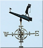 NS3329 : Troon Ladies Golf Club flagpole weather vane by Thomas Nugent
