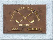 NS3329 : Troon Ladies Golf Club plaque by Thomas Nugent