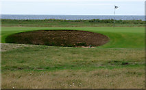 NS3229 : A bunker at Royal Troon Golf Club by Thomas Nugent