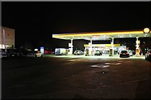 TL2273 : Shell petrol station by the Stukeley Roundabout by David Howard