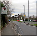 ST3386 : Give way to oncoming vehicles, Nash Road, Newport by Jaggery