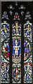 TV6198 : St Saviour, Eastbourne - Stained glass by John Salmon