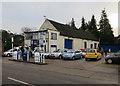 TG3308 : Manor Garage, Brundall by Hugh Venables
