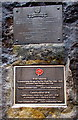 SO2800 : Two War Memorial plaques in Pontypool town centre by Jaggery