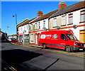 ST1587 : Talgarth Bakery van, Tonyfelin Road, Caerphilly by Jaggery