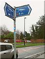 SE6049 : Trans Pennine Trail sign, York by Derek Harper