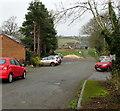 SO0328 : Brecon Golf Club car park by Jaggery