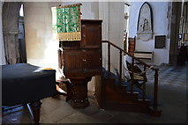 TQ9220 : Church of St Mary - pulpit by N Chadwick