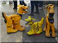 SY3391 : Lyme lifeboat mascots by John Stephen