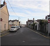 ST1586 : Western end of Clive Street, Caerphilly by Jaggery
