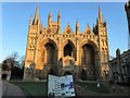 TL1998 : Winter sunlight on the west facade of Peterborough cathedral by Richard Humphrey
