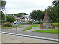 NS3043 : The Robert W Service monument, Kilwinning by Thomas Nugent