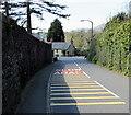 SS7698 : Towards a bend in the B4434 Llantwit Road, Llantwit, Neath by Jaggery