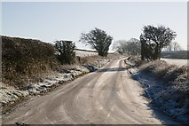 SE2648 : Frost and Ice on Crag Lane by Mark Anderson