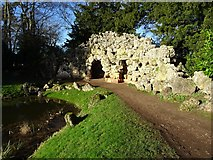 SO8744 : Grotto in Croome Park by Philip Halling