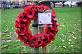 SO8071 : Poppy wreath, Stourport War Memorial Park, Stourport-on-Severn by P L Chadwick