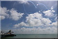 TV6198 : Eastbourne Pier during a Red Arrows display by Andrew Diack
